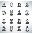profession icons set vector image