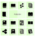 publish icons vector image vector image
