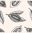 seamless pattern of cocoa beans vector image vector image