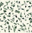 seamless pattern with small green leaves vector image vector image