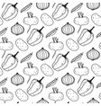 seamless pattern with the image of vegetables vector image