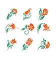 set of decorative elements for design vector image