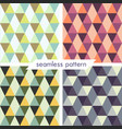 set of four seamless geometrical patterns 17 vector image