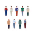 set of handsome young men in classic elegant vector image