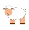 sheep cute character icon vector image