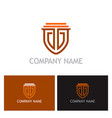 shield guarantee secure logo vector image vector image