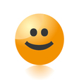 smile emo icon vector image