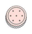 sweet cookie dessert vector image vector image