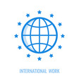 symbol of international work vector image