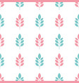 symmetrical seamless floral pattern with blue and vector image vector image