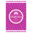 tequila laber vector image vector image