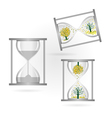 tree and sandglass vector image