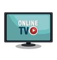 TV live stream vector image vector image