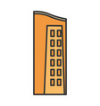urban building tower structure icon vector image vector image
