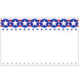 us flag star patriotic festive border banner vector image vector image