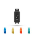 usb flash drive icon isolated on white background vector image