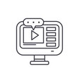 video lessons line icon concept video lessons vector image vector image