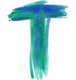 Watercolor Font LETTER T vector image
