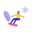 winter sport and active leisure concept with young vector image vector image