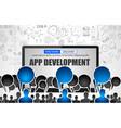 app development concept with business doodle vector image