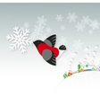 Snow bird vector image