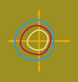 flat icon on stylish background chart thin circles vector image