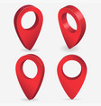 3d map pointer pin isolated red pin location vector image vector image
