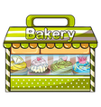 A green bakery store vector image