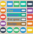 alarm clock icon sign Set of twenty colored flat vector image
