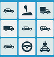 auto icons set collection of plug crossover vector image vector image