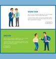 bad job work task poster unsatisfied boss vector image vector image