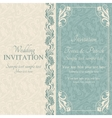 Baroque wedding invitation blue and beige vector image vector image