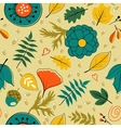 Beautiful autumn leaves flowers and twigs pattern vector image