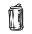 beer can icon hand drawn style vector image vector image