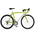 bicycle green1 01 vector image vector image