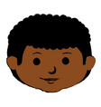 black little boy head character vector image vector image