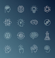 Brain and mind icons vector image