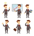 Businessman cartoon character vector image vector image