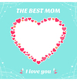 Cards the best mom I love you vector image