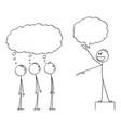 cartoon enthusiastic man leader or boss vector image