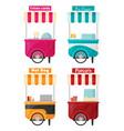 carts set retail kiosk on wheels flat vector image vector image