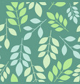 chaotic vegetable seamless pattern of leaves on a vector image vector image