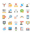 chat and social networking icons set vector image vector image