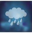 cloud rain icon on blurred background vector image