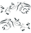 collection of floral swirl borders for your design vector image vector image