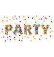 colorful round confetti carnival party sign vector image vector image
