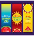 creative hot summer sale banner design vector image vector image
