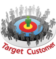 Customer Target Marketing vector image vector image