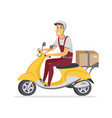 delivery man - cartoon people character isolated vector image