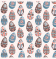 eater eggs on white seamless pattern vector image